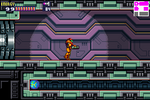 MF-165-SA-X enters the room in NOC where Samus is hiding