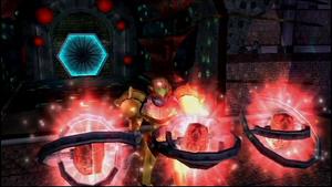 MP2 Samus uses Dark Agon Temple keys