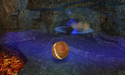 Lava lake sandstone explosion morph ball bomb
