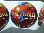 Metroid Prime GameStop promo stickers