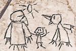 Samus' Zeichnung von Old Bird, Gray Voice und sich selbst
