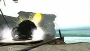 Cañón de Esferas Cinéticas disparando