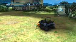Biosphere Test Area - transport vehicle and flowers