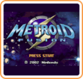 Metroid Fusion Start Screen Logo