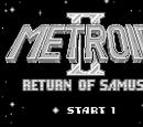 メトロイドⅡ RETURN OF SAMUS