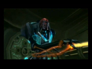 Ghor disparando su rayo de plasma