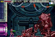 Robot Ridley destruido