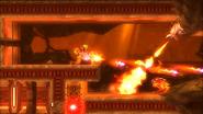 Metroid Samus Returns - Samus fighting creatures