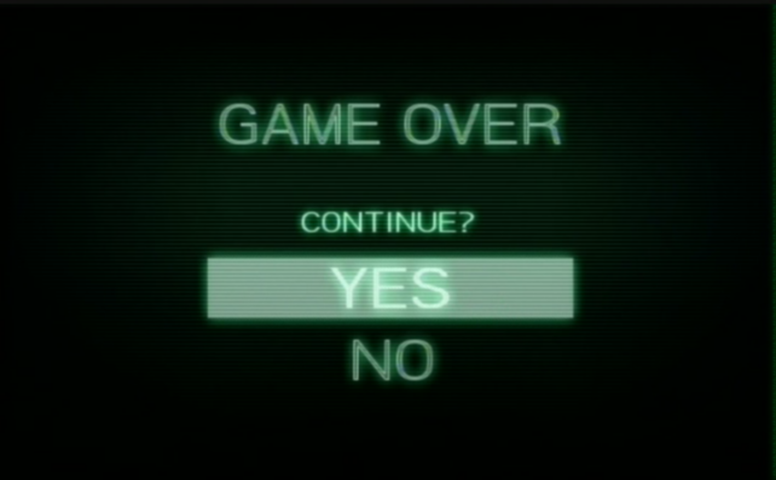 MOM Game Over Continue Screen