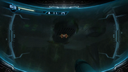 Water-filled room underwater sensor