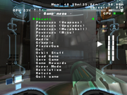 MP3 game menu