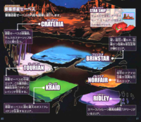 Planet Zebes Map MZM
