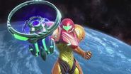 Samus iniciando Láser Zero SSB WiiU