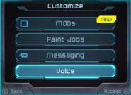 Customize options