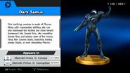 Samus Oscura trofeo SSB WiiU