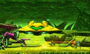 Metroid Samus Returns Proteus Ridley Samus Battling Ridley as Baby cheers on (Phase 2)