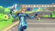 Samus Zero Circuito de Mario SSB WiiU