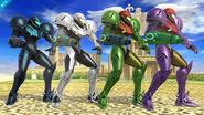 Samus colores SSB WiiU