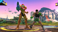 Samus y Little Mac WIIU