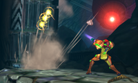 Metroid Samus Returns Diggernaut chase sequence begins