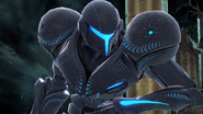 Dark Samus SSBU closeup