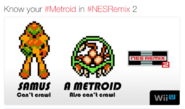 NES Remix 2 Metroid can't crawl