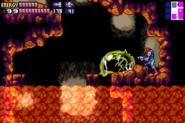 SRX Metroid's Husk in Lava Area MF