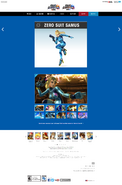 SSB4 Official Site bio - Zero Suit Samus