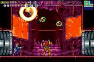 Sa-x destruyendo el laboratorio de seguridad