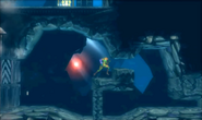 Metroid Samus Returns Diggernaut pursues Samus