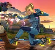 Samus Zero agachada SSB WiiU