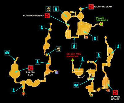 Metroid Prime - Map Phazon mines