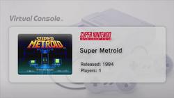 Super Metroid Wii U Virtual Console preview