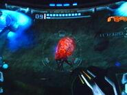 Metroid cazador en las minas de phazon