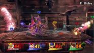 Ridley luchando SSB WiiU