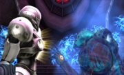Dark Samus approaches Light Suit