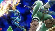 Samus Zero y Link SSB Wii U