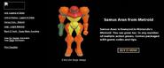 Samus Aran - Metroid (JoyRide website)