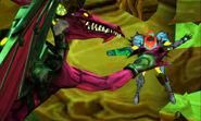 MSR Proteus Ridley slamming Samus into wall