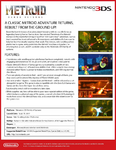 Metroid Samus Returns press sheet