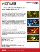 Metroid Samus Returns press sheet