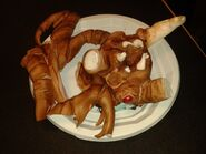 Alpha Metroid and Samus cake face and legs