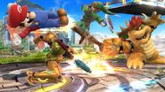 Samus atacando hacia abajo SBB WiiU