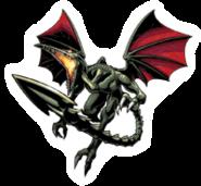 Brawl Sticker Ridley (Metroid Zero Mission)