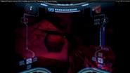 Visor de Samus al tocar el Azulio Oscuro