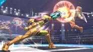 Samus contra Link SSB Wii U
