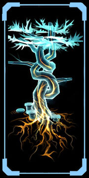 Cyrlic tree scan image