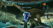 Prime Trilogy Promotional Dark Samus Fortress battle