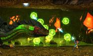 Queen Metroid green balls attack