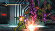 Samus engages Ghalmanian HD
